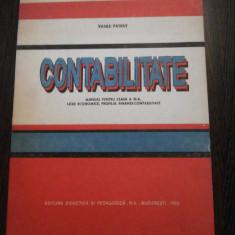 CONTABILITATE * Manual cl. XI -a - Vasile Patrut - 1993, 122 p. - Manual scolar didactica si pedagogica, Clasa 10, Didactica si Pedagogica, Alte materii
