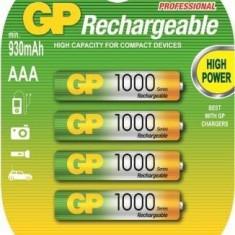 4x GP AAA 1000mAh baterii reincarcabile Blister NK133 - Baterie Aparat foto