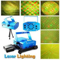 Mini proiector cu laser si microfon Disco Stage Lighting - Laser lumini club