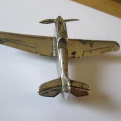RARITATE! MACHETA METALICA(BRONZ NICHELAT) AVION ROMANESC DE VANATOARE ANII 40 - Macheta Aeromodel Alta, 1:1200