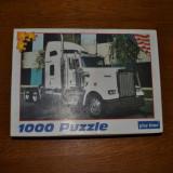 Joc puzzle 1000 piese cu camion american