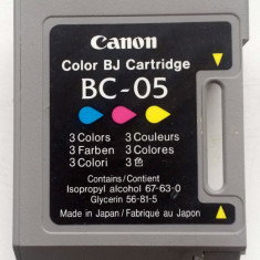 Cartuş gol, original, virgin, CANON BC-05 (color) pentru Refill - Cartus imprimanta