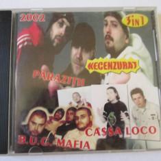 RAR! CD HIP HOP, NECENZURAT 2002:B.U.G. MAFIA, PARAZITII SI CASSA LOCO - Muzica Hip Hop Altele