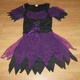Costum carnaval serbare vrajitoare pentru adulti marime S - Costum Halloween, Marime: Masura unica, Culoare: Din imagine