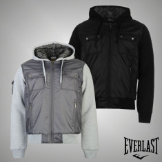 Nou! Geaca iarna Barbati Everlast Lined originala - marimea S M L XL XXL XXXL - Geaca barbati Everlast, Culoare: Gri, Negru