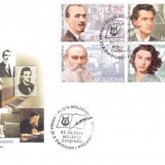 MOLDOVA 2008, FDC, Aniversari - Personalitati, Europa