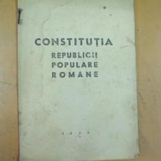 Constitutia Republicii Populare Romane Bucuresti 1948 august