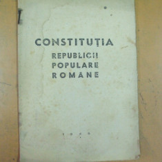 Constitutia Republicii Populare Romane Bucuresti 1948 august - Carte Drept constitutional