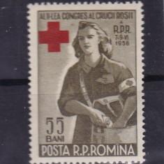 ROMANIA 1956, LP 407, CRUCEA ROSIE, MNH, LOT 0 RO - Timbre Romania, Nestampilat