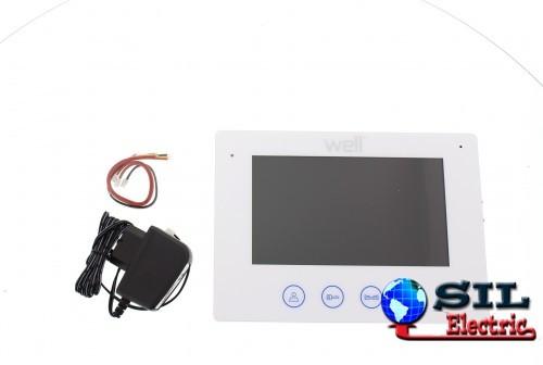 """Monitor pentru videointerfon cu afisaj de 7"""" si conexiune la 4 fire - Well"""
