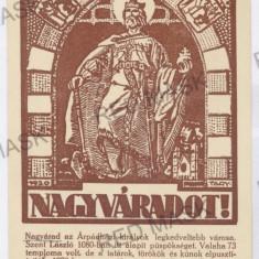 820 - ORADEA - old postcard - unused - Carte Postala Crisana 1904-1918, Necirculata, Printata