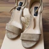 Sandale stiletto piele