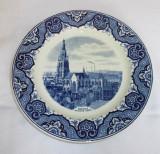 Farfurie - decoartiva / de colectie - portelan Olanda - Maestricht - Delft
