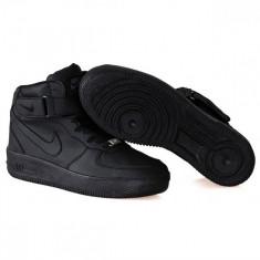 Ghete Nike Air Force - Ghete barbati Nike, Marime: 37, 40, 41, 42, 43, Culoare: Negru, Piele sintetica