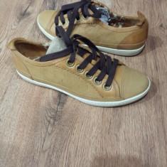Pantofi/Tenisi dama TIMBERLAND Earth Keepers originali noi piele camel 37, 5 - Pantof dama Timberland, Piele naturala, Cu talpa joasa
