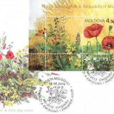 MOLDOVA 2009, FDC, Flori, Europa