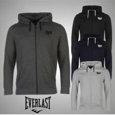 Nou! Hanorac pulover bluza barbati Everlast Zip original - S M L XL XXL XXXL - Hanorac barbati, Culoare: Gri, Indigo, Multicolor, Negru