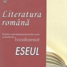 Literatura romana. Pregatire individuala pentru proba scrisa - BAC. Eseul - Teste Bacalaureat
