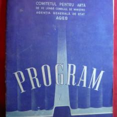 Programul IV Festival Mondial al Tineretului si Studentilor pt Pace -1953 - Pliant Meniu Reclama tiparita
