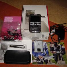 NOKIA E72 ORIGINAL 100% CA NOI LA CUTIE - 289 LEI !!! - Telefon mobil Nokia E72, Argintiu, Neblocat