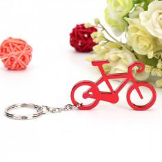 Breloc fantezie bicicleta + cutie simpla cadou