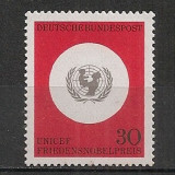 Germania.1966 20 ani UNICEF  SG.281, Nestampilat