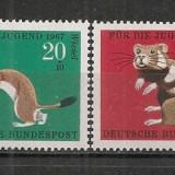 Germania.1967 Pentru tineret-Animale cu blana  SG.282, Nestampilat