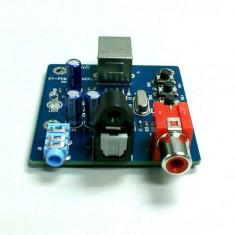 Convertor audio digital to analog (DAC) usb, nou