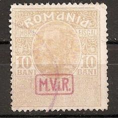 SD Romania 1917-Posta milit.germ.-Timb.fisc.supr. MViR caseta-11a-10 B brun galb