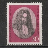 Germania.1966 250 ani moarte G.W.Leibnitz-filozof  SG.278, Nestampilat