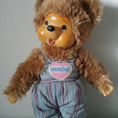 Jucarie plus mascota Monchhichi (kiki), urs/ ursulet maro, Wuschel, 28 cm, - Jucarii plus