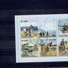 Sao Tome e Principe - militar caine - Timbre straine, An: 2009, Stampilat