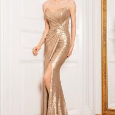 ROCHIE CRISTALLINI - Rochie de seara, Marime: 36, Culoare: Auriu