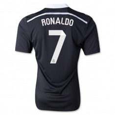 Tricou ADIDAS RONALDO 7 Real Madrid Super Calitate - Tricou barbati Adidas, Marime: S, M, L, XL, XXL, Culoare: Negru, Maneca scurta, Poliester
