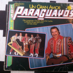 Reynaldo Meza Y Los Paraguayos Un Gran Amor disc vinyl lp muzica latino germany, VINIL