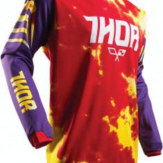 MXE Tricou motocross copii Thor Pulse Tydy culoare Violet/Rosu Cod Produs: 29121432PE - Imbracaminte moto