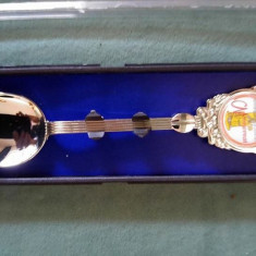 Lingurita decorativa ornamentala inox Monserrat, 12cm, noua, in cutia originala