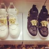 Sneakers piele naturala/ghete dama VERSACE
