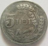 Moneda 5 Lei - ROMANIA, anul 1942 *cod 3386  Zinc