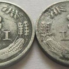 2 Monede de 2 Lei - ROMANIA, anul 1941 *cod 315 Zinc - Moneda Romania