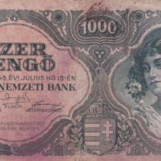 UNGARIA 1.000 pengo 1945 VF!!! - bancnota europa