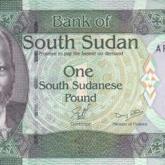 Bancnota Sudanul de Sud 1 Pound (2011) - P5 UNC - bancnota africa