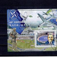 Sao Tome - 60 ani NATO - aviatia - Timbre straine, An: 2009, Militar, Stampilat