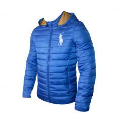 Geaca Barbati Ralph Lauren Model De Toamna Cod Produs D602, Marime: L, XL, Culoare: Albastru, Microfibra