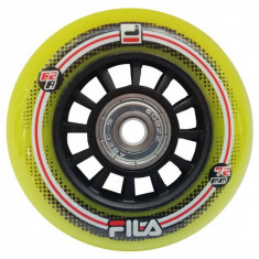 Set 8 Roti FILA 72mm lime duritate 82a cu rulmenti ABEC 5