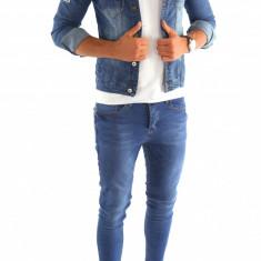 Geaca de blugi tip ZARA - geaca slim fit - geaca fashion - COLECTIE NOUA 7002 - Geaca barbati, Marime: XS, S, M, Culoare: Din imagine