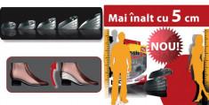 B-Tall- Inaltator din silicon pentru pantofi,Mai inalt cu 5 cm foto