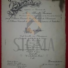 MENIU RESTAURANT CAPSA - UNIUNEA GENERALA A INDUSTRIASILOR DIN ROMANIA, BUCAREST, 1930 - Fotografie