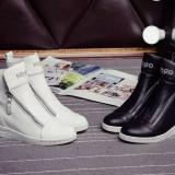 Sneakers dama cu platforma KENZO - PIELE NATURALA