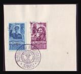 Expo SIBIU 1952, suvenir filatelic stampila speciala, seria Ziua Minerului 1951